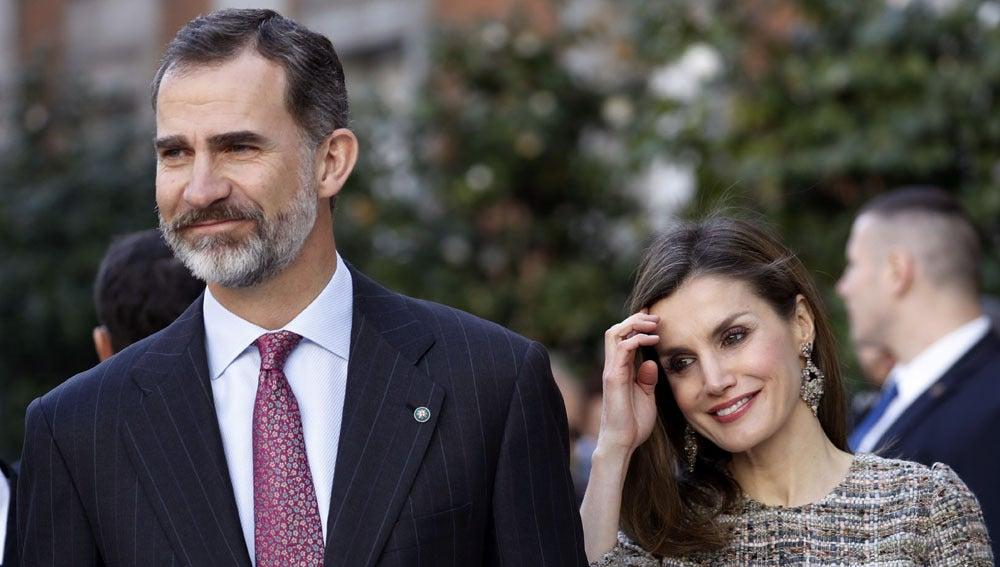 El rey Felipe y la reina Letizia en el museo Thyssen