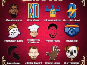 Los 'emojis' del All Star de la NBA