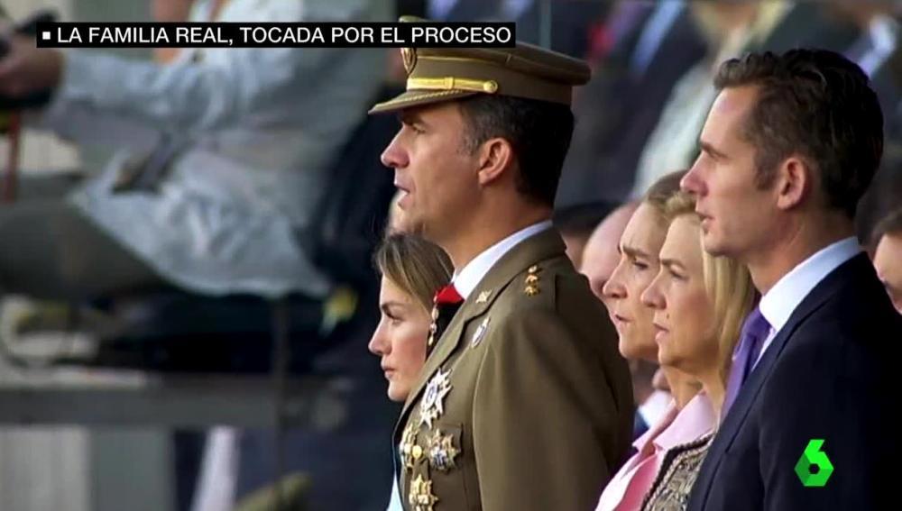 Urdangarin y la infanta en la Fiesta Nacional de 2011