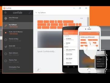 Confide, la app que usa Trump