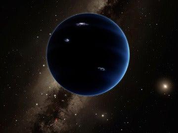 Recreación virtual del conocido como 'Planeta Nueve'