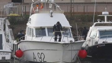 El barco de la Armada dotado con un sonar que participa en las tareas de búsqueda
