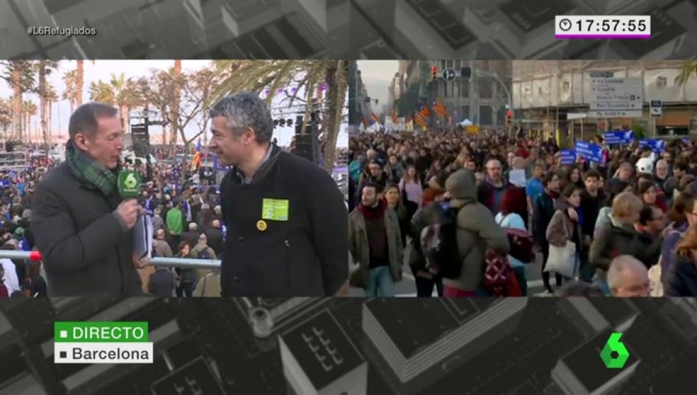 """Frame 4.61724 de: Oriol Amorós: """"Es una vergüenza que a 35.000 personas en Grecia, Europa no las pueda acoger en una tarde"""""""