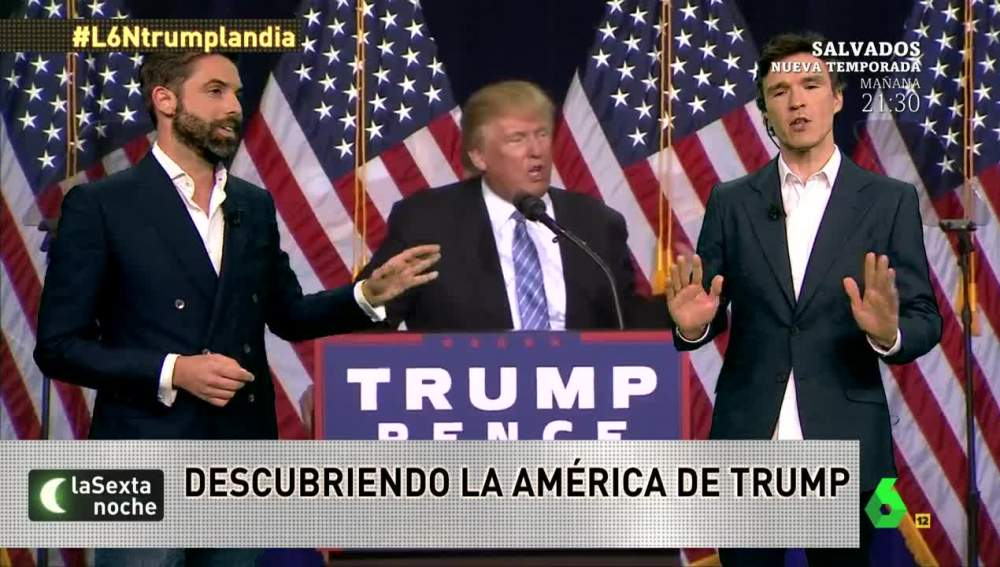 Los periodistas José Yélamo y Pablo Ortiz, en laSexta Noche