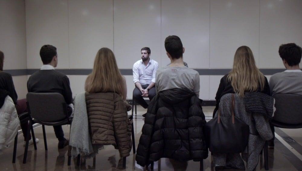 Marc Masip en una sesión de terapia