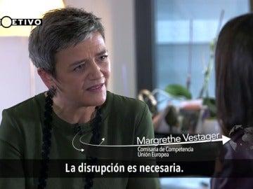 """Frame 1.316591 de: Magrethe Vestager: """"La disrupción es necesaria si queremos conseguir que las grandes empresas paguen sus impuestos"""""""