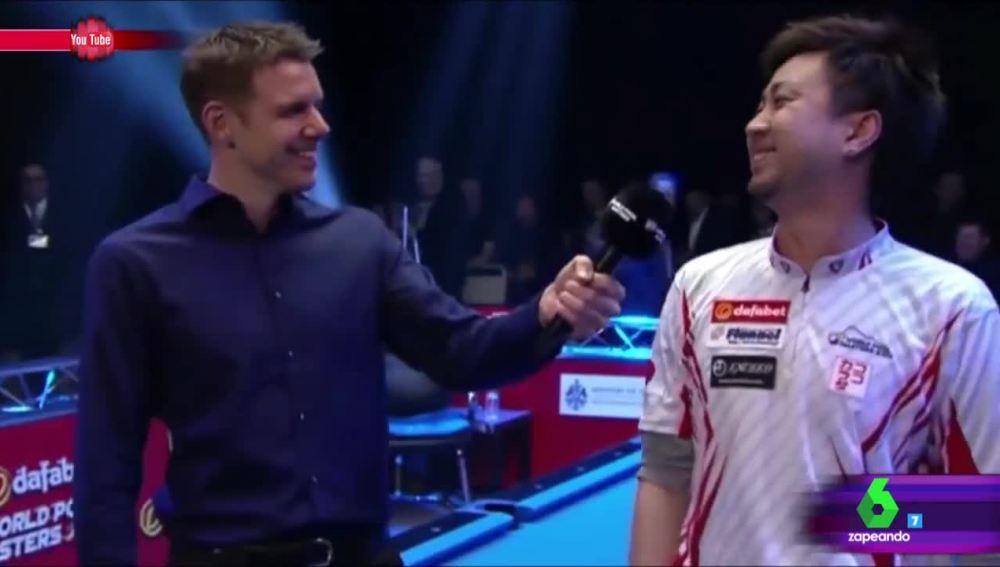 La disparatada entrevista de un periodista inglés a un jugador de billar japonés