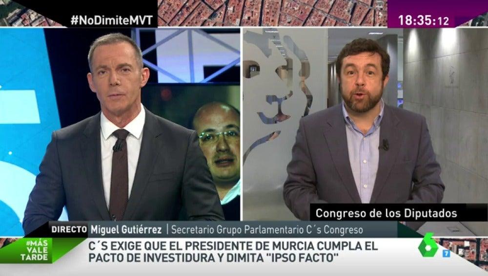 """Frame 14.008141 de: Miguel Gutiérrez: """"Hemos pedido una reunión con el presidente de Murcia para tratar con él sin intermediarios"""""""