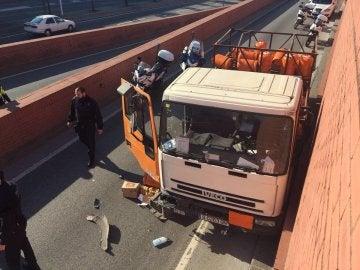 El conductor del camión de butano robado en Barcelona detenido