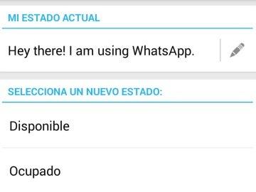Antiguos estados de Whatsapp, ahora 'Tagline'