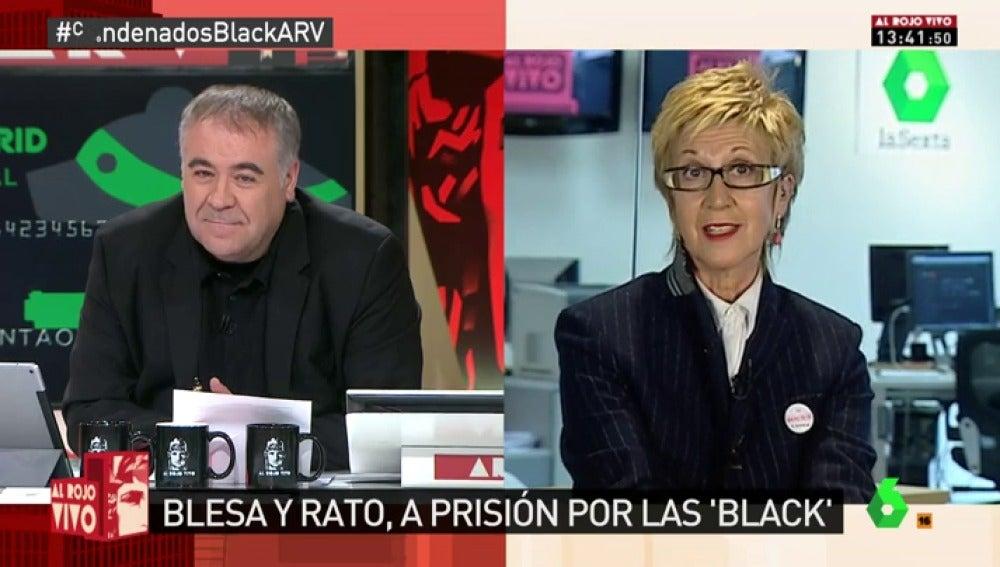 """Frame 3.683453 de: Rosa Díez: """"Rato tocó la campanita porque al PSOE le pareció bien, también al PP"""""""