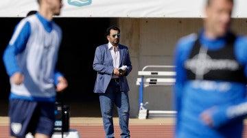 Al Thani, durante un entrenamiento