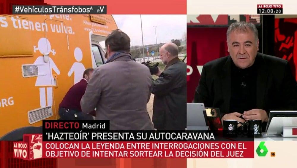 """Frame 135.743933 de: Antonio García Ferreras, contra el autobús de la vergüenza: """"Afortunadamente España se parece muy poco a Hazte Oír"""""""