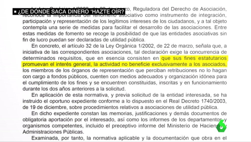 """El chollo fiscal de Hazte Oír: es una entidad de utilidad pública que """"promueve el interés general"""" y por ello recibe ayudas"""