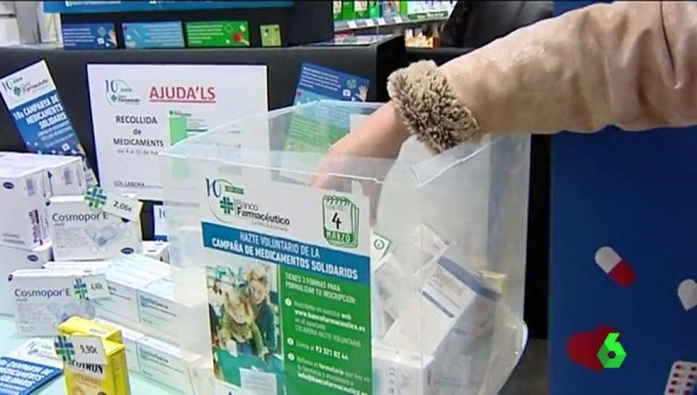 El banco farmacéutico recoge medicinas para las personas sin recursos económicos
