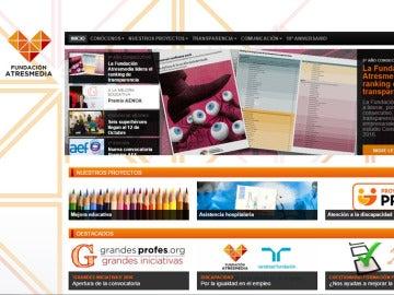 Web de la fundación Atresmedia