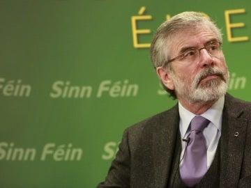 El auge electoral del Sinn Féin provoca un giro histórico en Irlanda del Norte El presidente de Sinn Féin, Gerry Adams.