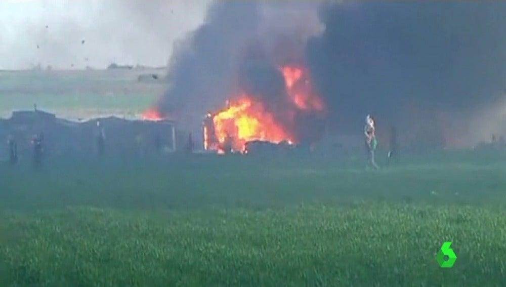 Dos migrantes mueren en un incendio en un campamento al sur de Italia