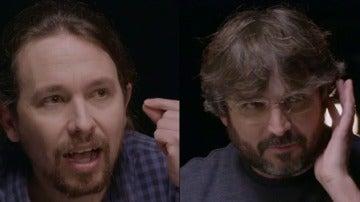 Pablo Iglesias y Jordi Évole