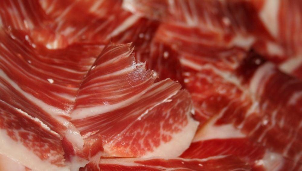 Imagen de archivo de jamón cortado