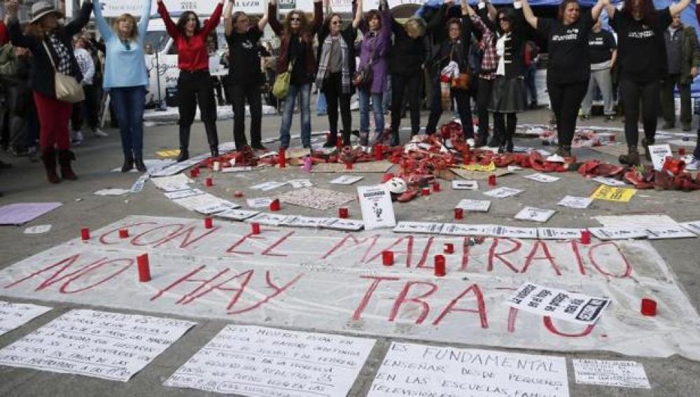 Movilización contra la violencia machista (Archivo)