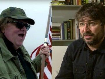 Michael Moore y Jordi Évole