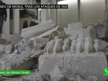 Destrucción en el museo de Mosul
