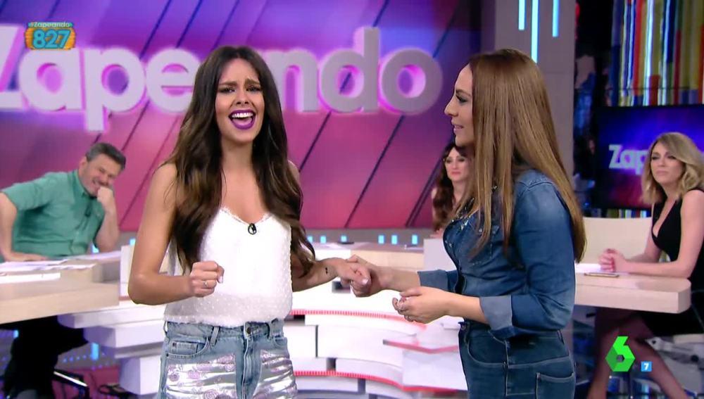 Cristina Pedroche canta con Mónica Naranjo