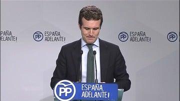"""Frame 0.0 de: Pablo Casado: """"Somos el partido con unos requisitos más bajos para poder optar a cualquier tipo de candidatura"""""""