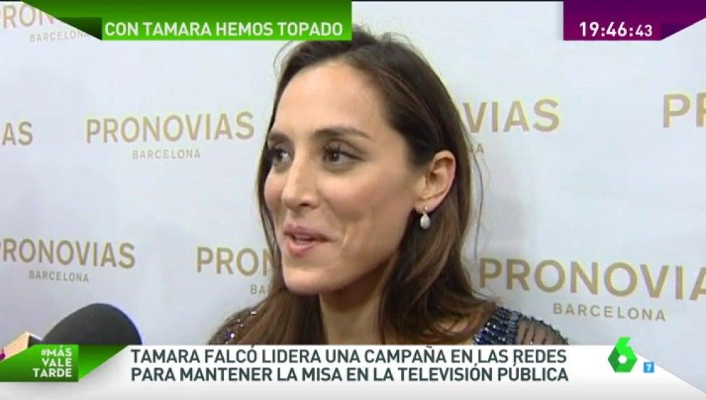 Frame 16.958486 de: Tamara Falcó abandera la campaña para que la televisión pública mantenga la misa del domingo