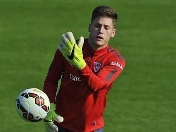Álex Remiro, portero del Athletic Club de Bilbao