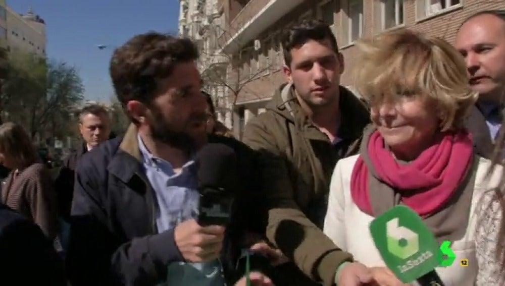 """Frame 34.367502 de: El 'zasca' de Gonzo a Esperanza Aguirre sobre la carta de Granados: """"¿Quiere mandarle un mensaje al que lo aprendió todo de usted y ahora está en la cárcel por corrupción?"""""""