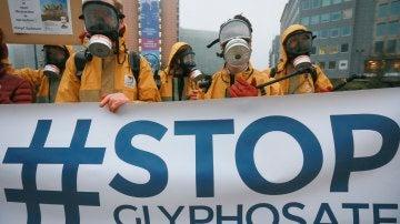 Manifestación contra el la utilización del glifosato