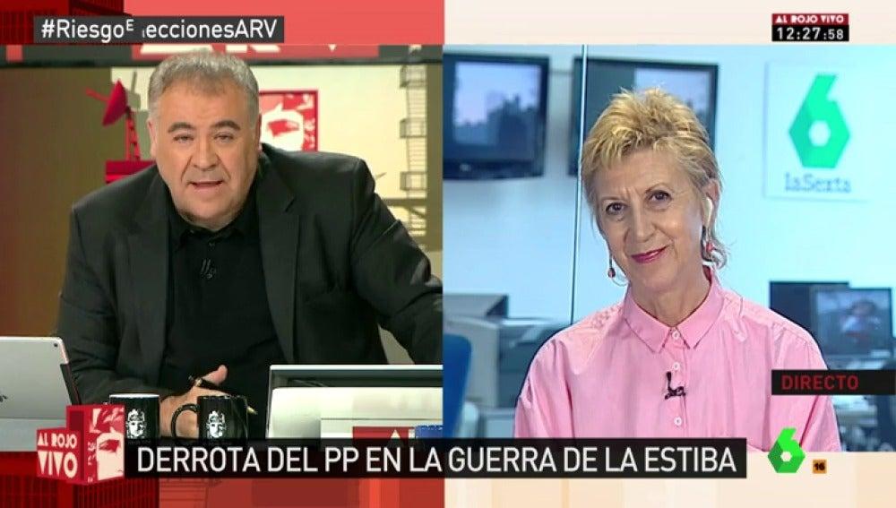 Rosa Díez, cofundadora de UPyD, en Al Rojo Vivo