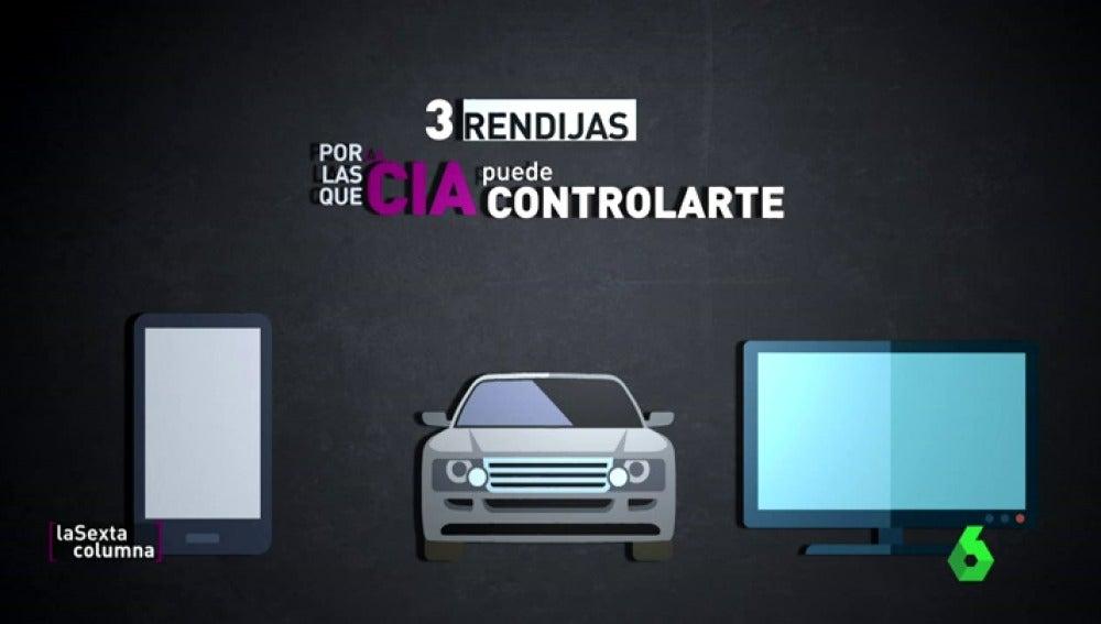 """Frame 11.139926 de: El móvil, la tele y el coche, las tres rendijas por las que la CIA puede controlarte: """"Van a por objetivos concretos"""""""