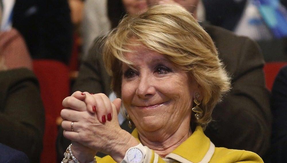 Esperanza Aguirre, en un acto