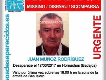 Buscan a un hombre de 78 años desaparecido en Hornachos, Badajoz