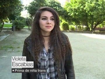 Violeta, prima de una niña trans