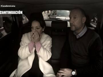 Pedro García Aguado, junto a Luisa, en Cazadores de Trolls