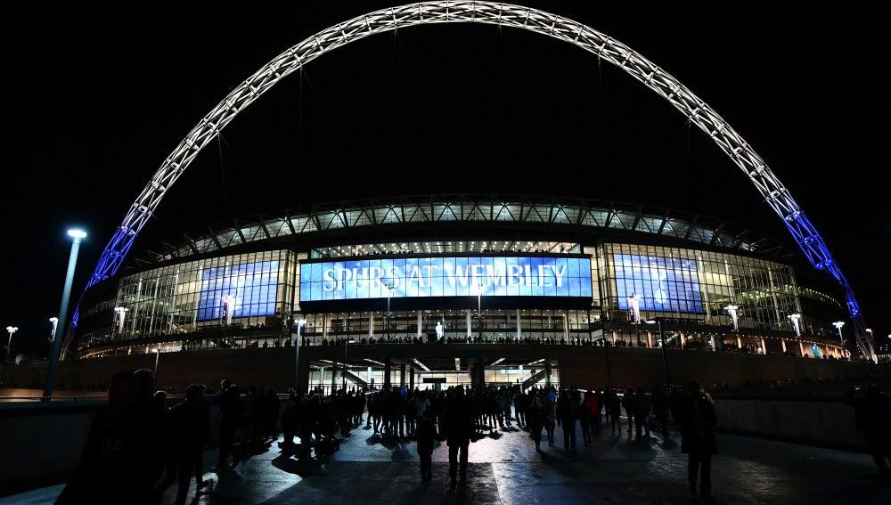 Exteriores del estadio de Wembley antes de un partido