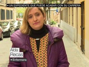 Alda Recas, enfermera