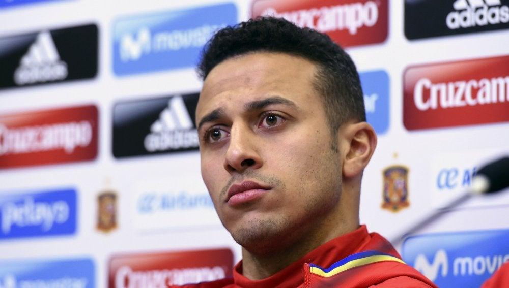 Thiago Alcántara, centrocampista de la Selección