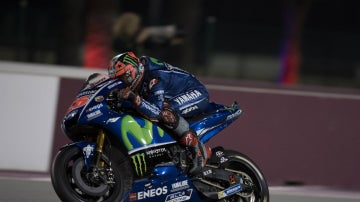 Maverick Viñales, en su Yamaha