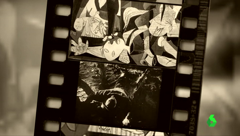 La gran pantalla, un cuadro lleno de imágenes en movimiento: ¿está inspirado el Gernika en una película?