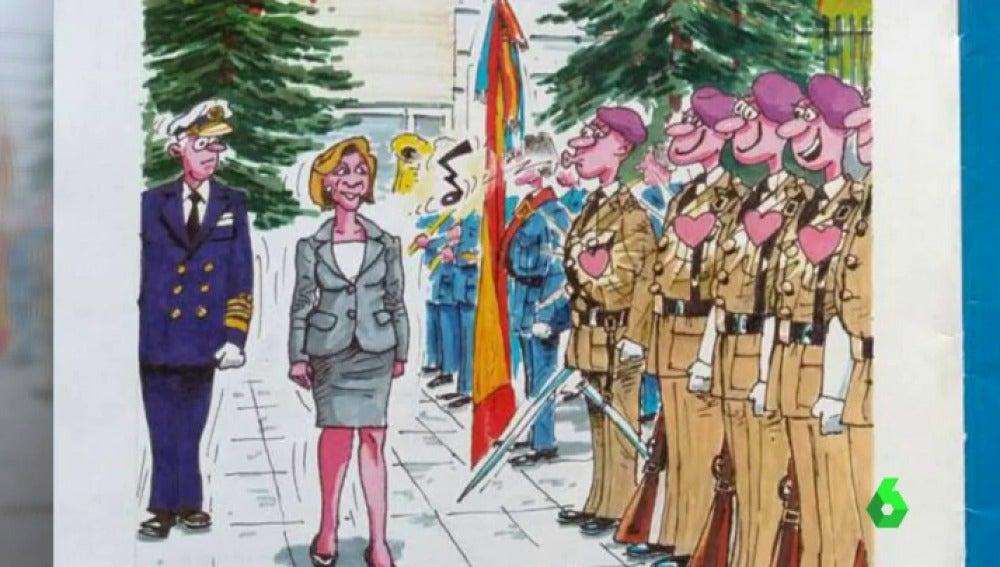 Polémica por la publicación de una viñeta machista sobre la ministra María Dolores de Cospedal