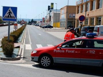Imagen de archivo de un coche de la Policía Foral de Navarra