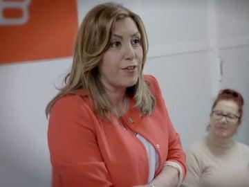 Susana Díaz adelanta en un vídeo su intención de presentarse a las primarias