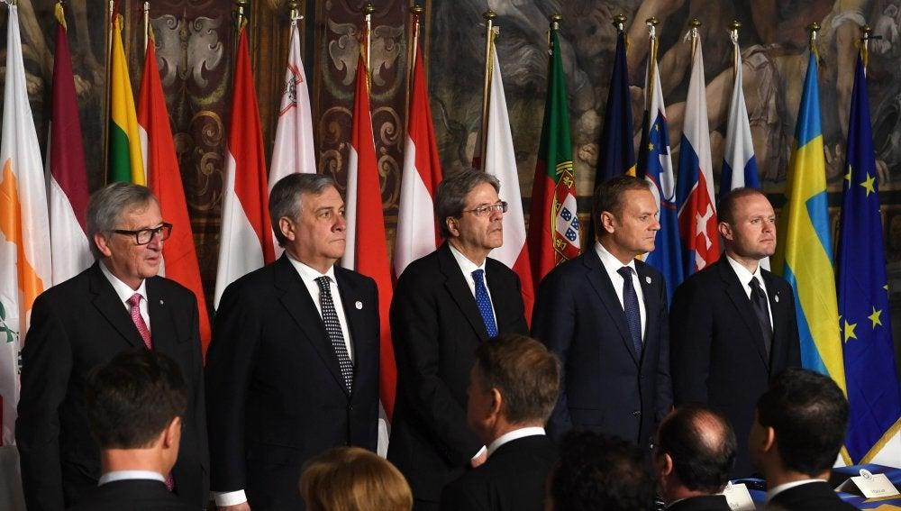 Líderes de la Unión Europea reafirman en Roma la voluntad de seguir avanzando
