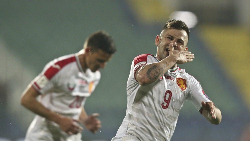 Bulgaria celebra un gol