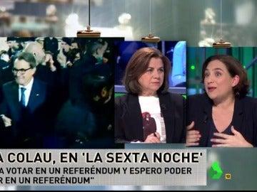 """Ada Colau: """"Siempre apoyaremos el referéndum; en una democracia lo mejor es hablar las cosas"""""""